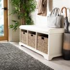 Lonan White Storage Bench