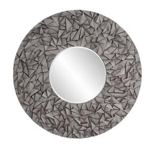 38 in. H x 38 in. W Medium Round Gray Wash Beveled Glass Contemporary Mirror