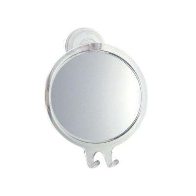 Mirror Suction Brushed Nickel Interdesign Silver