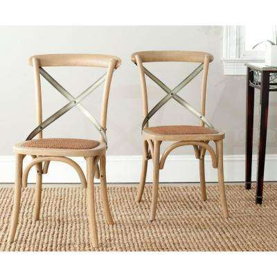 Eleanor Weathered Oak X Back Side Chair (Set of 2)