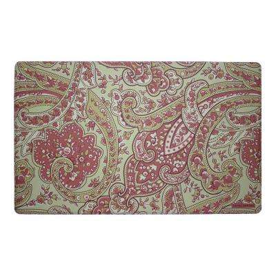 Vanessa Rust 20 in. x 32 in. Memory Foam Kitchen Mat