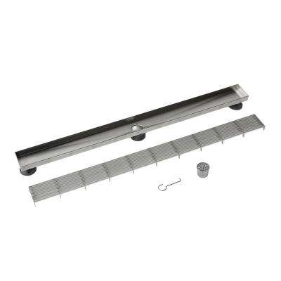 Designline 36 in. Stainless Steel Linear Drain Wedge Wire Grate
