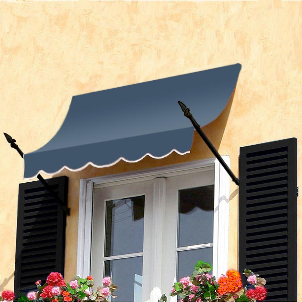 AWNTECH 8 ft. New Orleans Awning (56 in. H x 32 in. D) in Dusty Blue