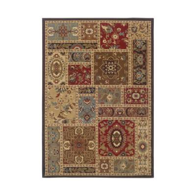 Huntington Multi-Colored 8 ft. x 10 ft. Geometric Floral Patchwork Indoor Area Rug