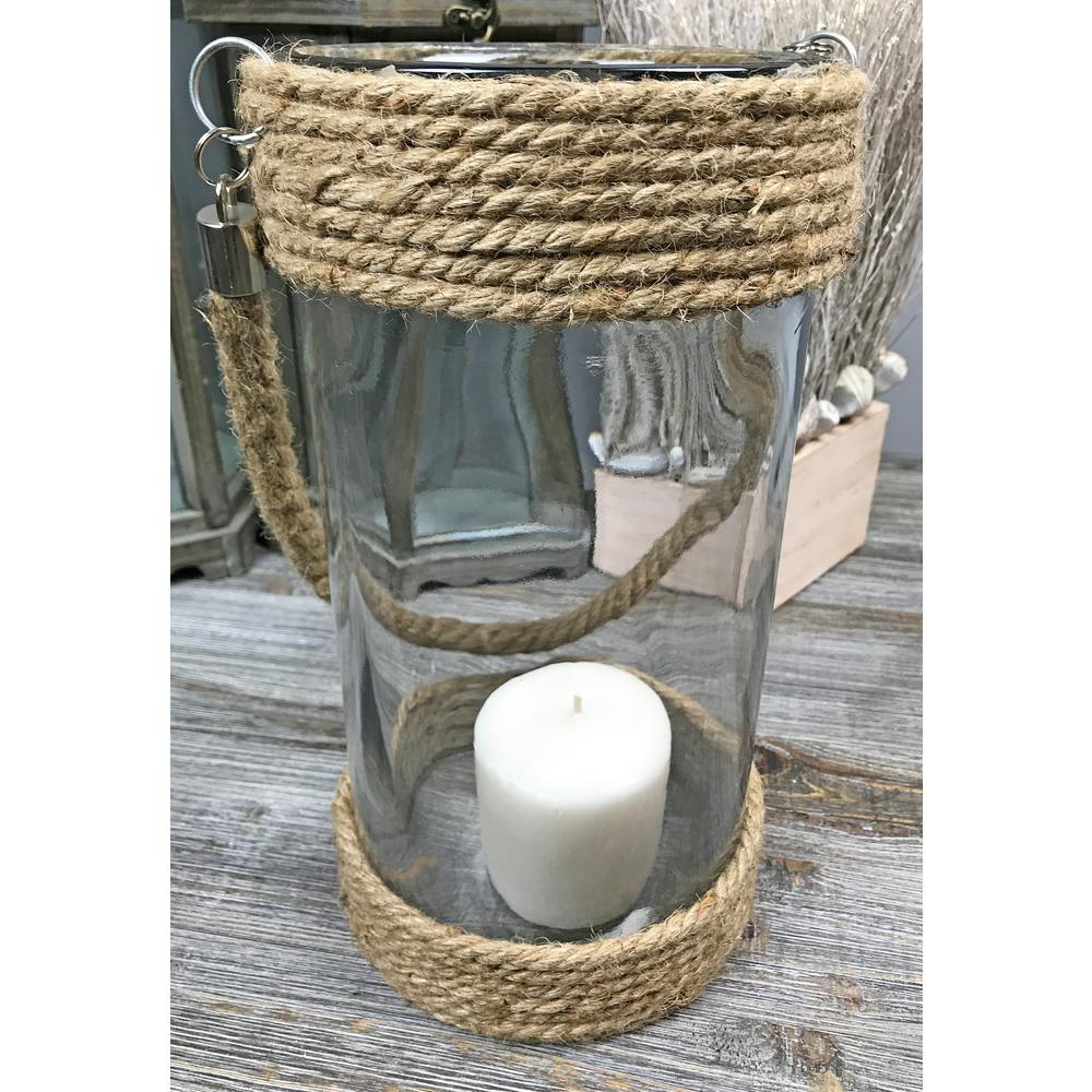 f810b87668d6a Jute Rope Glass Large Round Candle Holder-SD60189L - The Home Depot