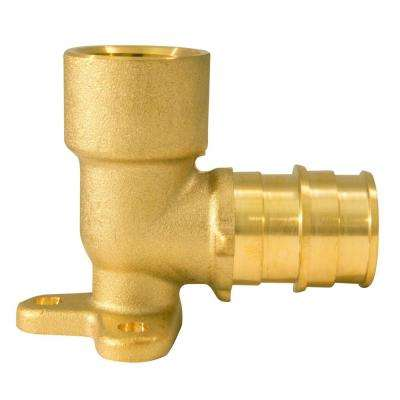 3/4 in. Brass PEX-A Expansion Barb x 1/2 in. Female Pipe Thread Adapter Reducing 90 Drop-Ear Elbow
