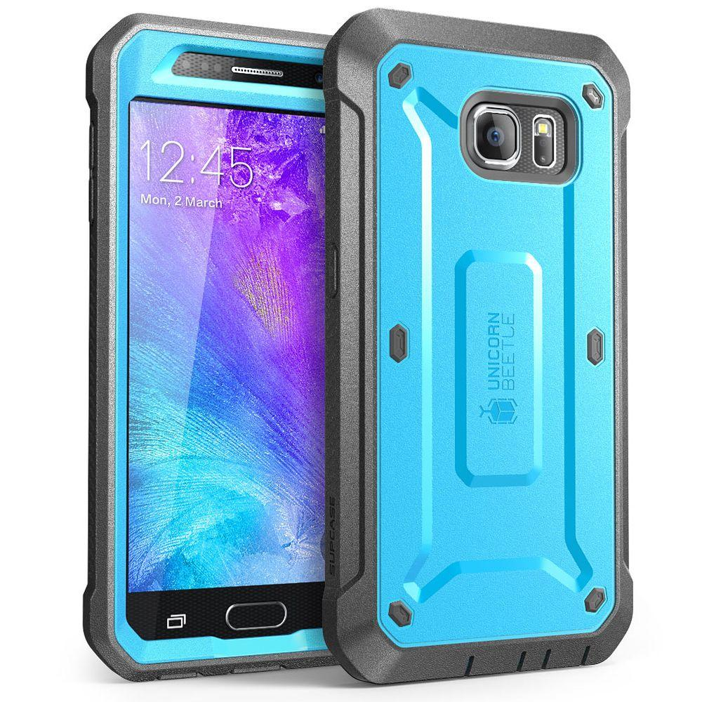 buy online 807f2 85521 i-Blason SUPCASE Unicorn Beetle Pro Full-Body Case for Galaxy S6, Blue/Black
