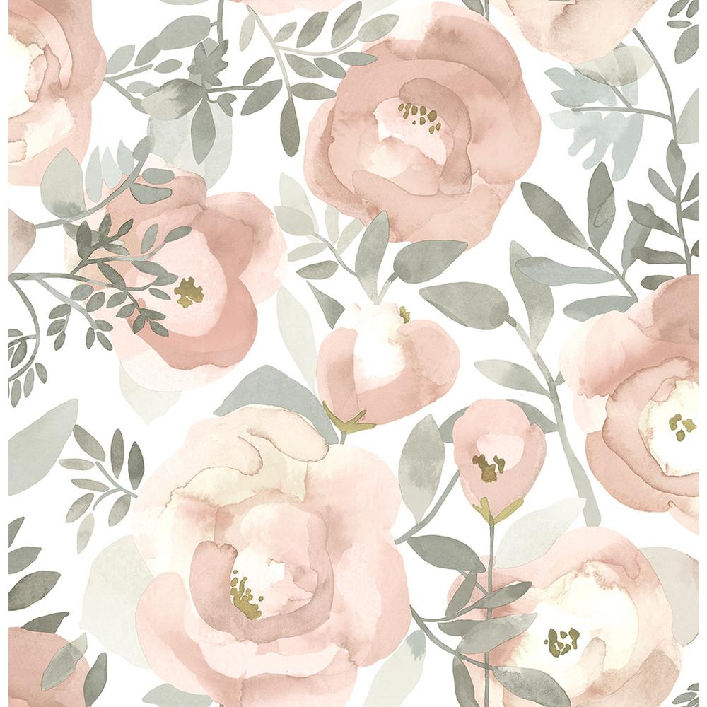 A Street 8 In X 10 In Orla Rose Floral Wallpaper Sample 2903