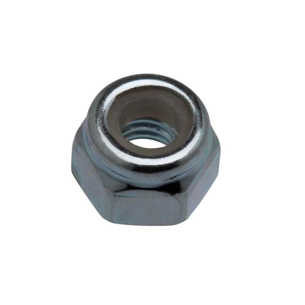 Everbilt 1/4 in.-20 Zinc Plated Nylon Lock Nut (2-Pack)