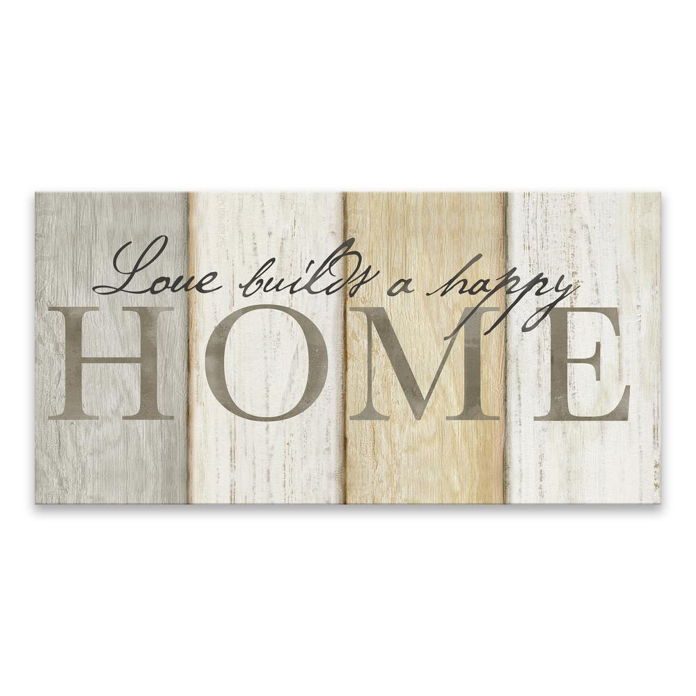 Artissimo Designs Love Builds Homeby Cynthia Coulter Printed Canvas Wall Art, Brown/White/Black was $59.99 now $35.99 (40.0% off)
