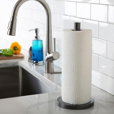Paper Towel Holder in White with Deluxe Tension Arm