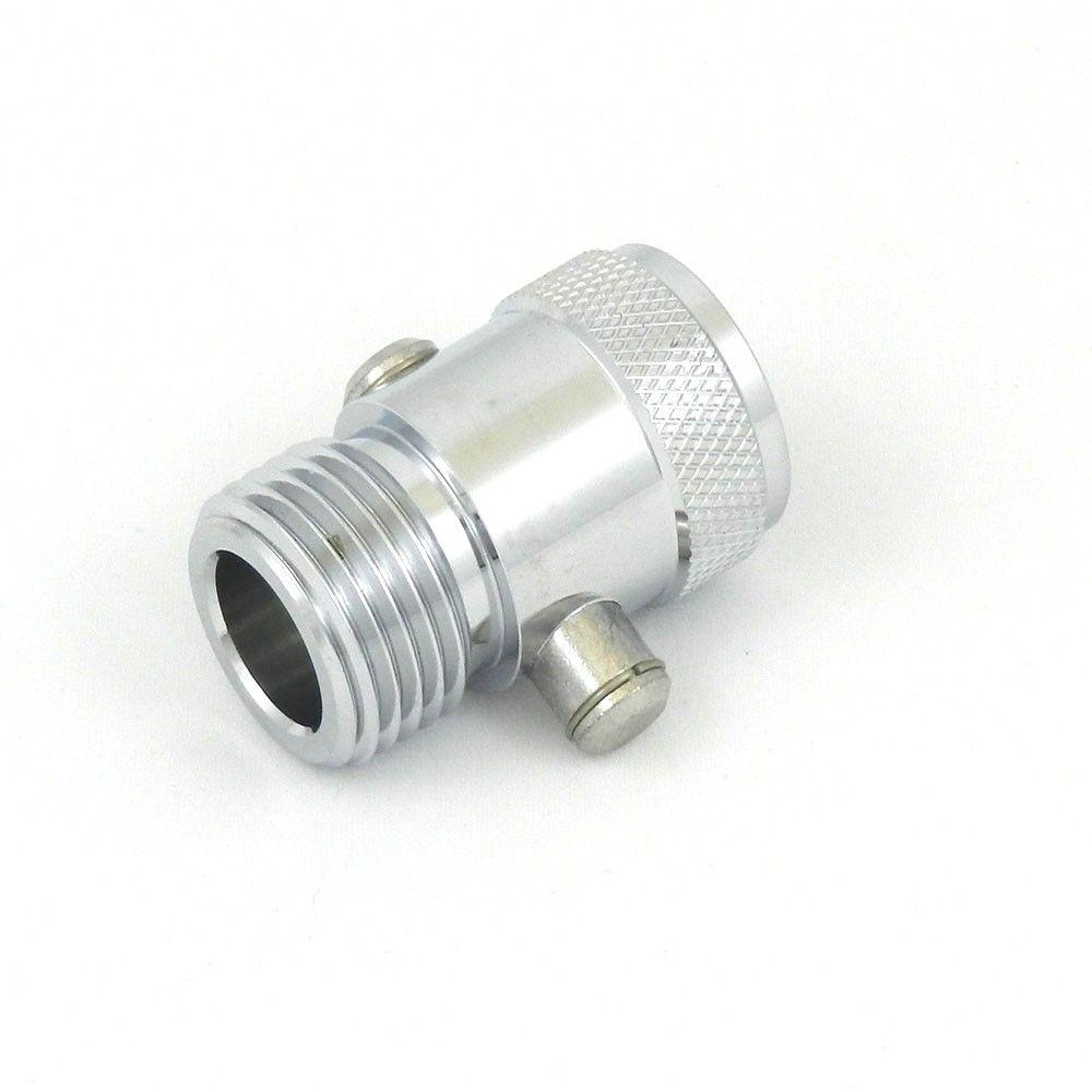 AM Conservation Group Pause-The-Flow Showerhead Accessory in Stainless Steel