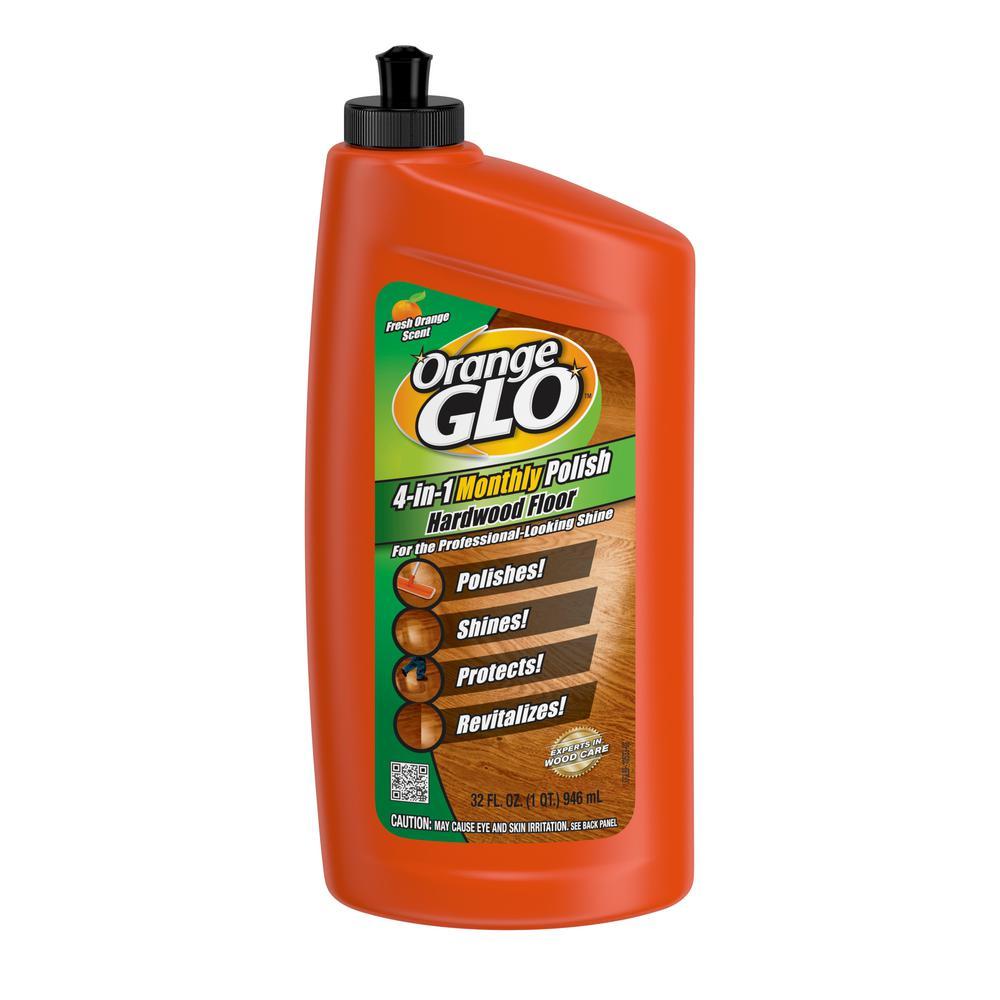 Orange Glo 32 Oz 4 In 1 Hardwood Floor Cleaner And Polish
