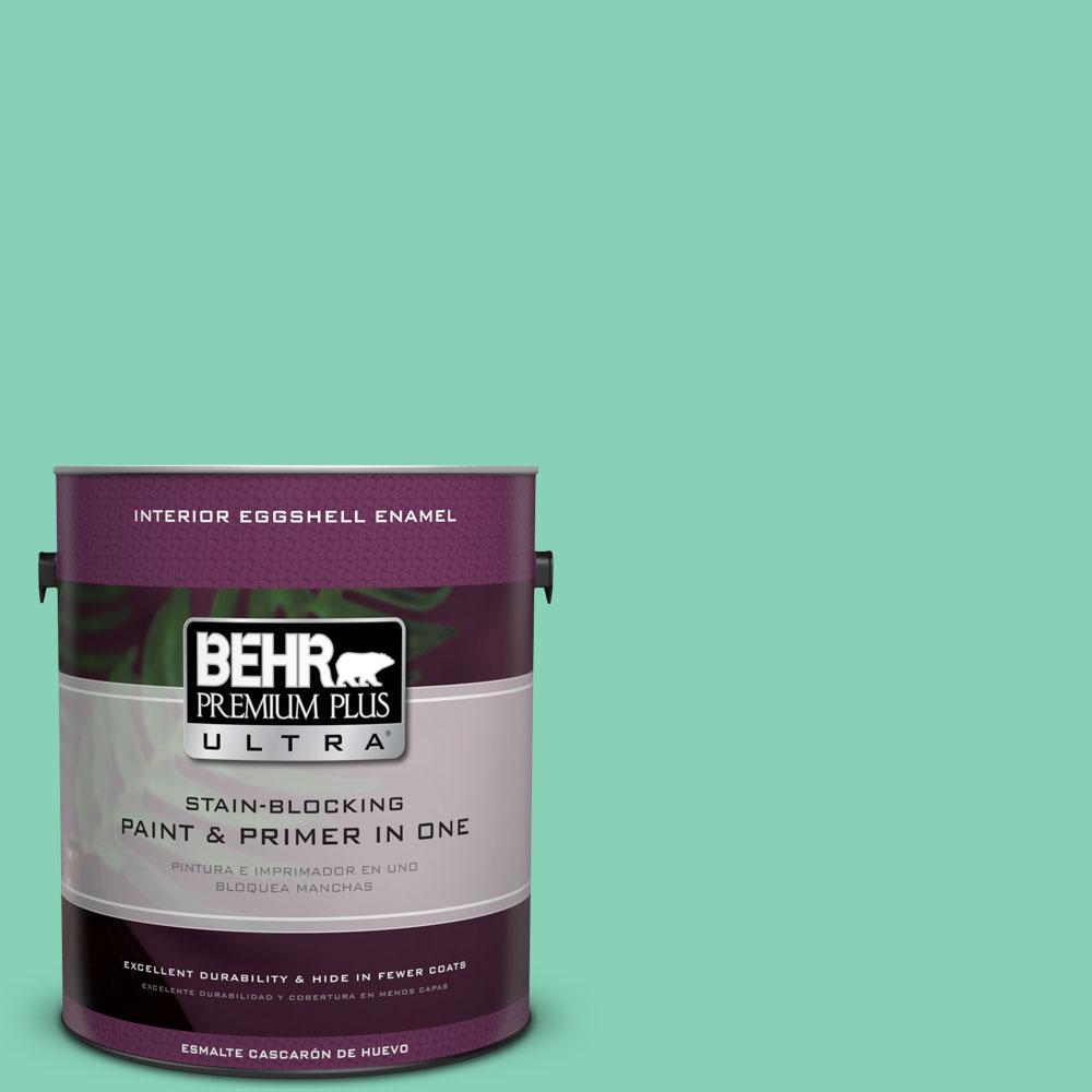 BEHR Premium Plus Ultra 1-gal. #P420-3 Tropical Trail Eggshell Enamel Interior Paint