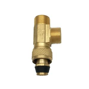 3/8 in. x 3/8 in. x 3/8 in. Compression Brass Stop Valve Tee Adapter
