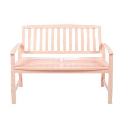 Loja 2-Person Coral Wood Outdoor Bench