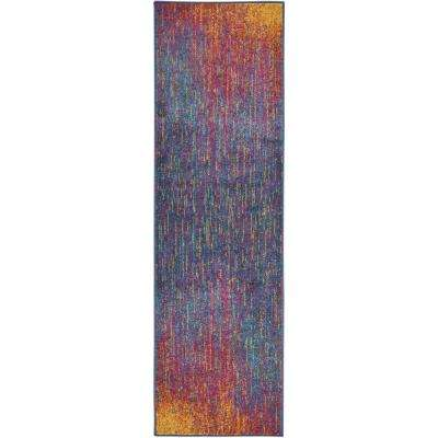Passion Multicolor 2 ft. x 8 ft. Runner Rug