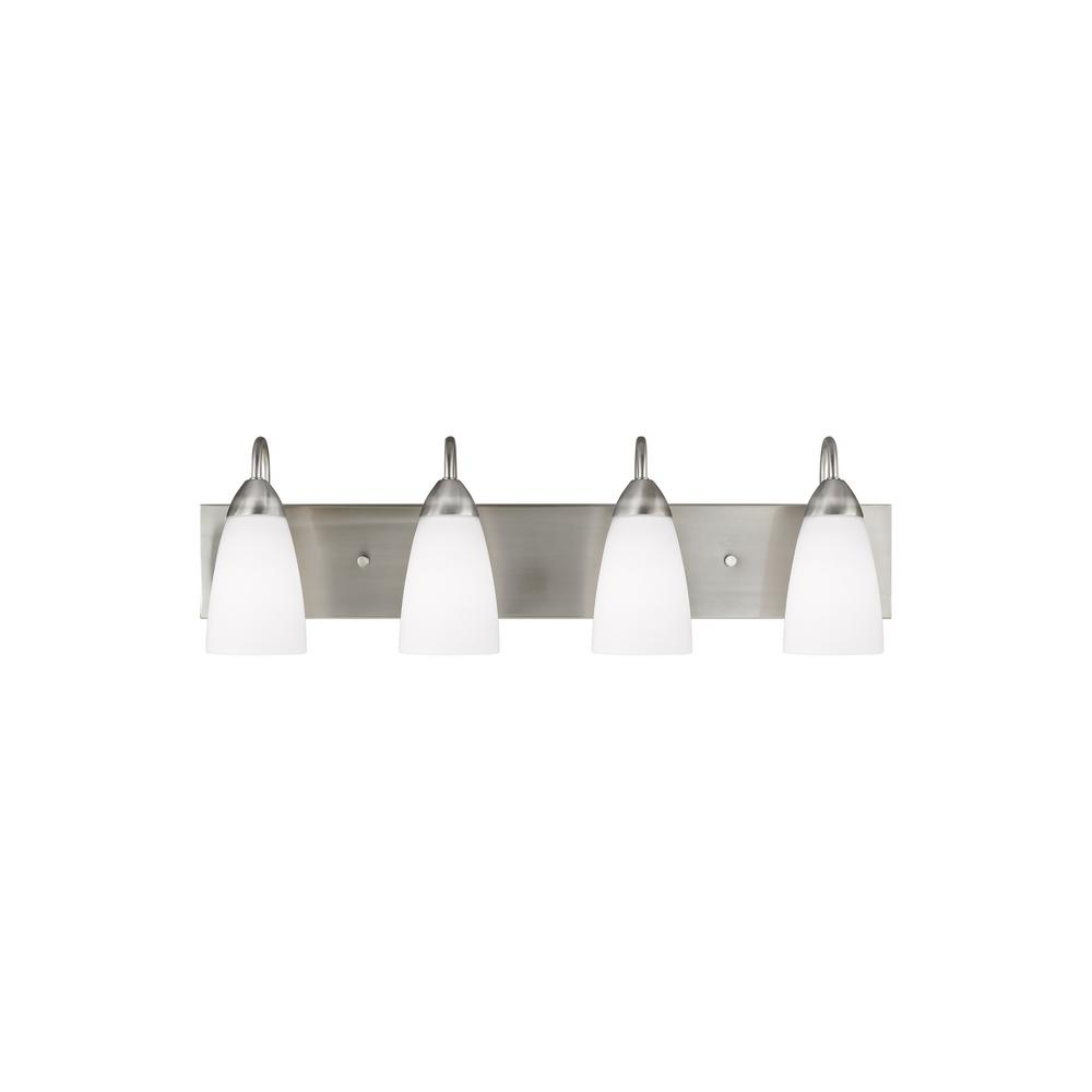Sea Gull Lighting Seville 4-Light Brushed Nickel Bath Light