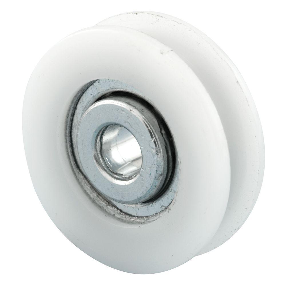 Sliding Door Roller, 27/32 in. Nylon Ball Bearing