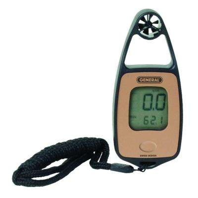 Mini Airflow and Temperature Meter with Wind Chill and Compass