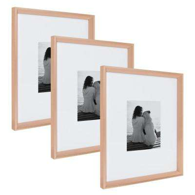 Calter 16 in. x 20 in. Matted to 8 in. x 10 in. Rose Gold Picture Frame (Set of 3)