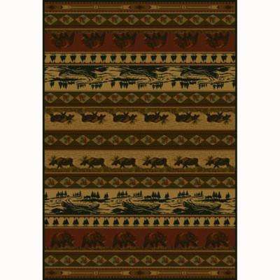 Kodiak Island Rust 5 ft. 3 in. x 7 ft. 6 in. Contemporary Lodge Area Rug