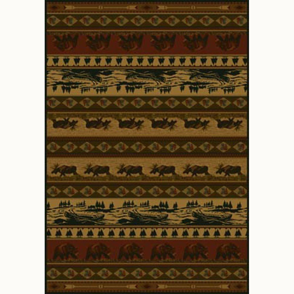 Kodiak Island Rust 7 ft. 10 in. x 10 ft. 6