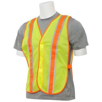 S903 Non-ANSI Reflective Economy Long Hi-Viz Yellow with Contrasting Trim Vest