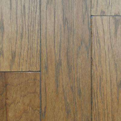Take Home Sample - Artisan Hickory Sepia Solid Hardwood Flooring - 5 in. x 7 in.