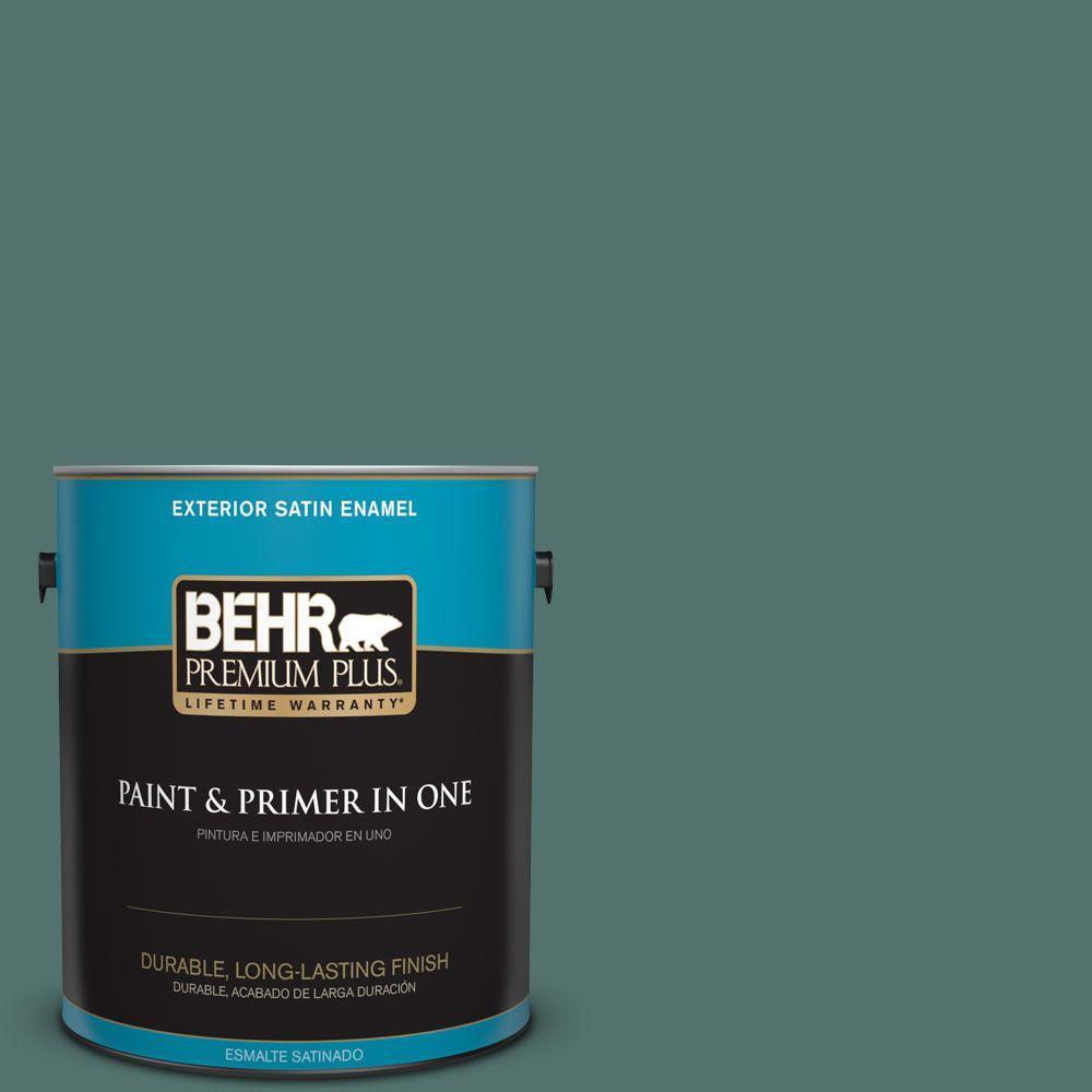 1 gal. #HDC-WR16-04 Noble Fir Satin Enamel Exterior Paint