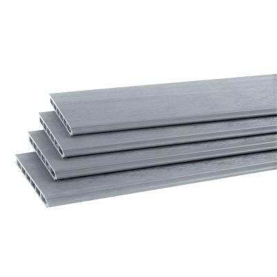 Evolver 1 ft. x 6 ft. Grey Capped Composite Boards for Fence Panel (4-Pack)