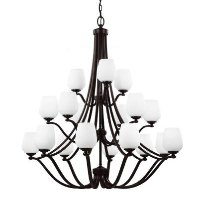 Feiss Vintner 18-Light Heritage Bronze Single Tier Chandelier Shade