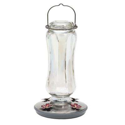 Glass Starglow Vintage Hummingbird Feeder