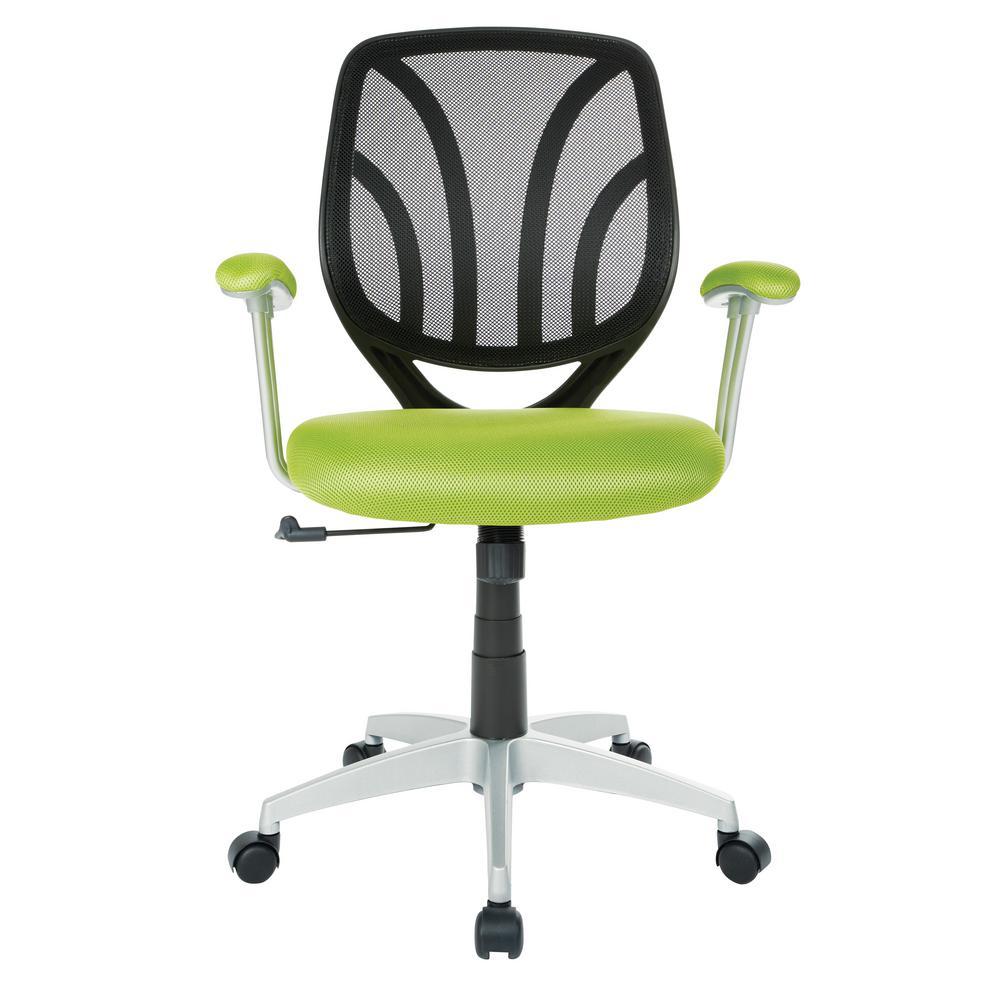 Office Star Products Green Mesh Screen Back Chair With