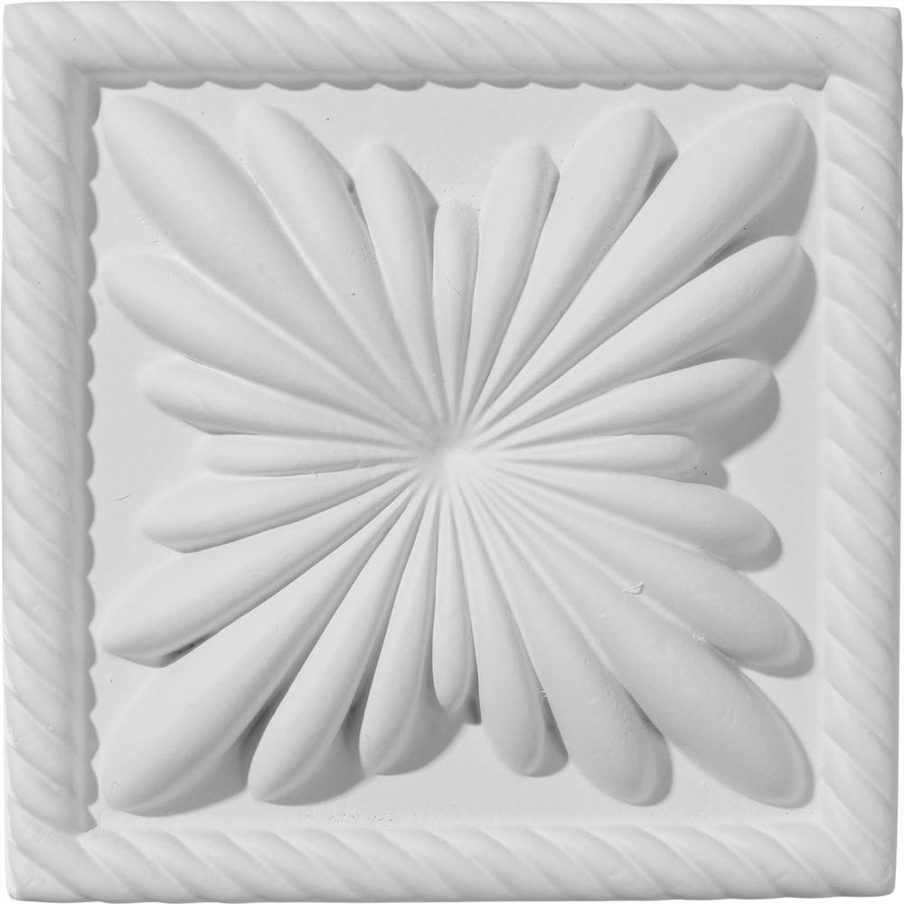 Ekena Millwork 4-3/8 in. x 1 in. x 4-3/8 in. Cole Plinth ...