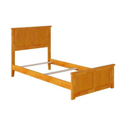 Madison Twin XL Traditional Bed with Matching Foot Board in Caramel