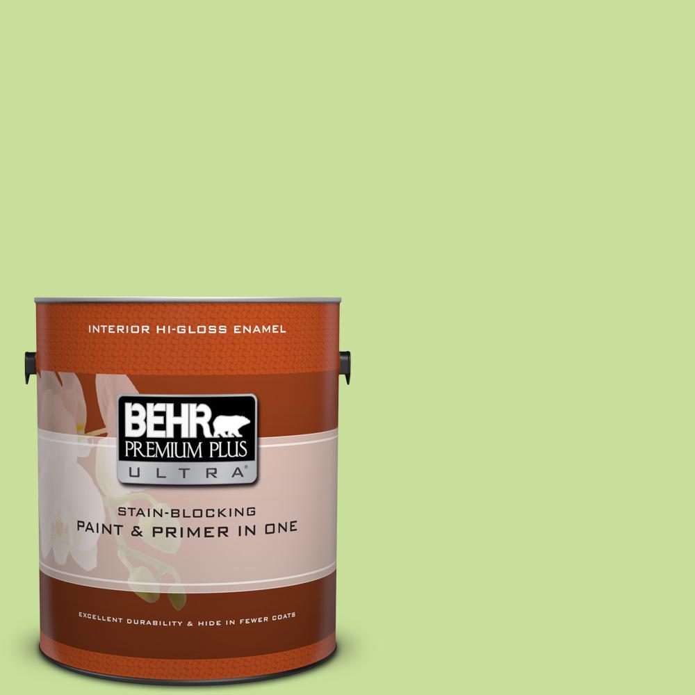 1 gal. #420A-3 Key Lime Hi-Gloss Enamel Interior Paint