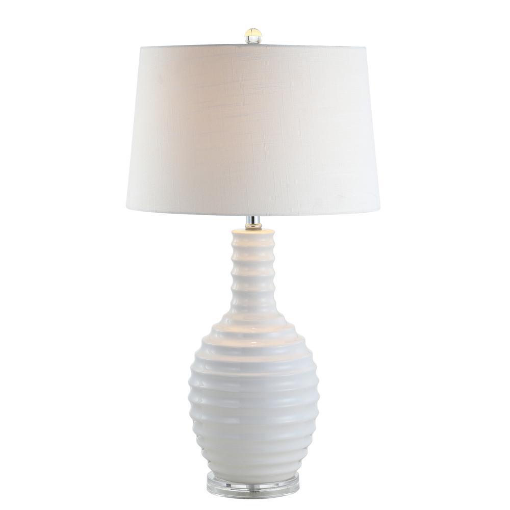 Dylan 29.5 in. Ceramic LED Table Lamp, White