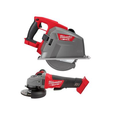 M18 FUEL 18-Volt Lithium-Ion Brushless Cordless 4-1/2 in. / 5 in. Grinder and Metal Cutting Circular Saw (2-Tool)