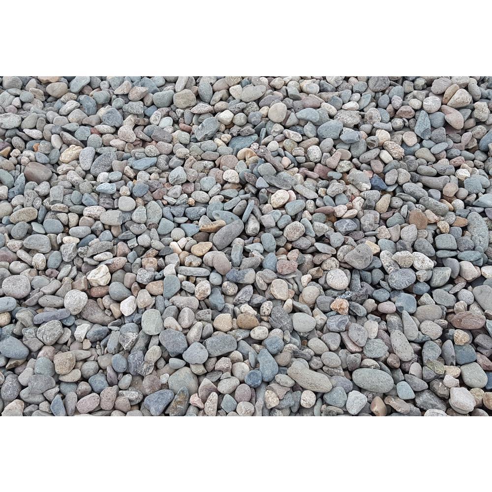 10 cu. ft. Large River Rock Assorted Decorative Stone - (1 Bag/10 cu. ft./Pallet)
