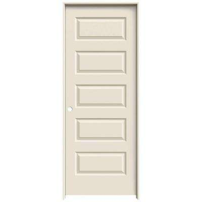 28 in. x 80 in. Rockport Primed Right-Hand Smooth Molded Composite MDF Single Prehung Interior Door