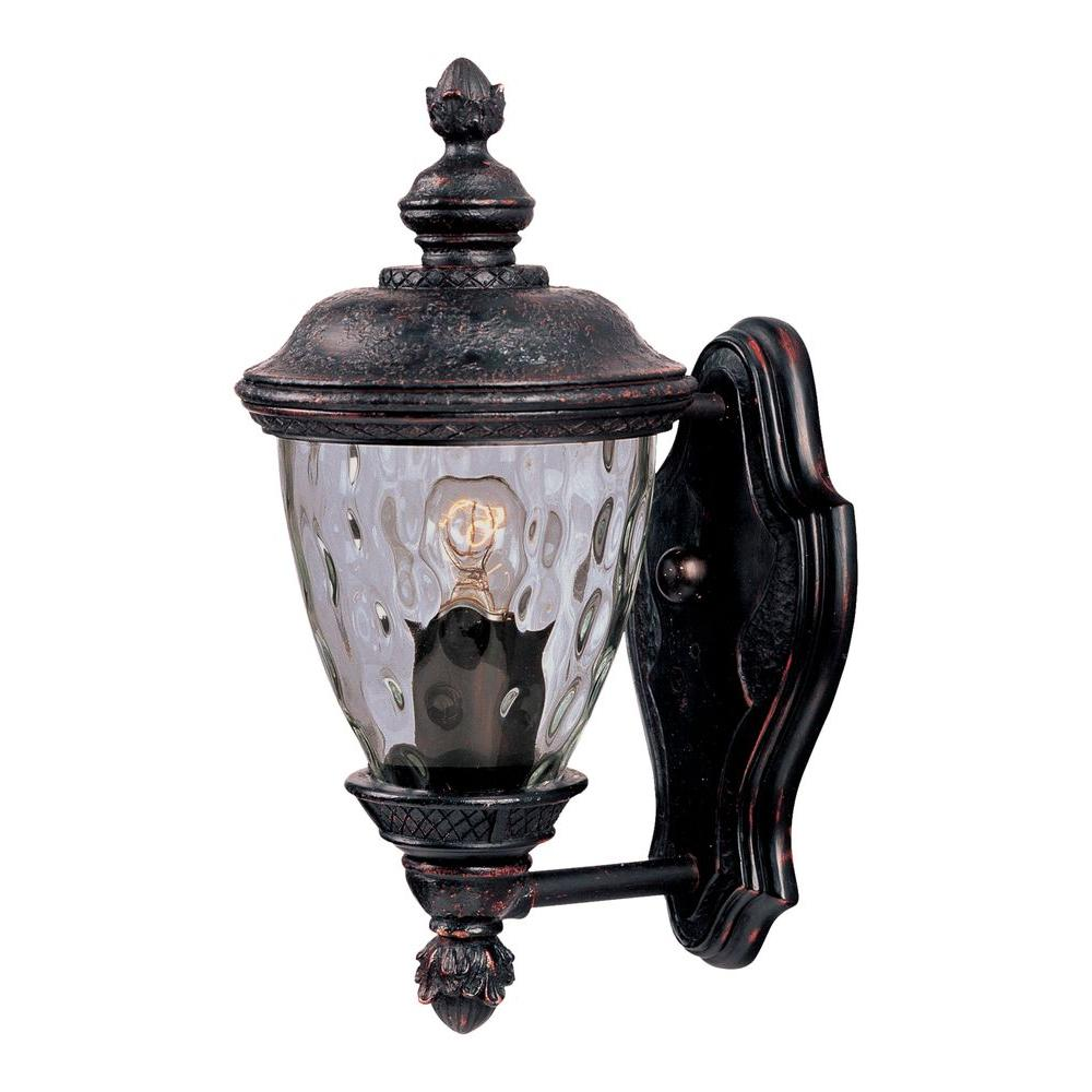 outdoor carriage lights wrought iron maxim lighting carriage house dc 1light oriental bronze outdoor wall mount