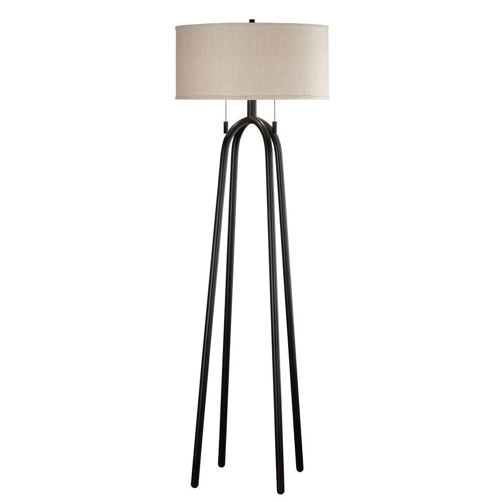 Kenroy Home Quadratic 61 In Oil Rubbed Bronze Floor Lamp 21389orb
