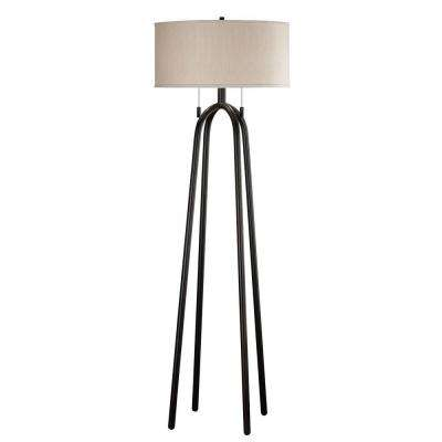 Quadratic 61 in. Oil-Rubbed Bronze Floor Lamp