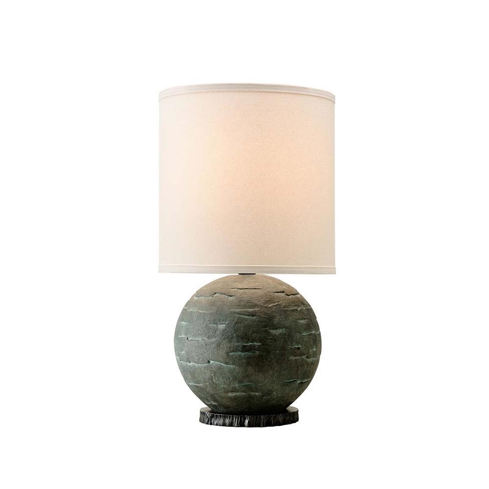 La Brea 23 in. Limestone Table Lamp with Off-White Linen Shade