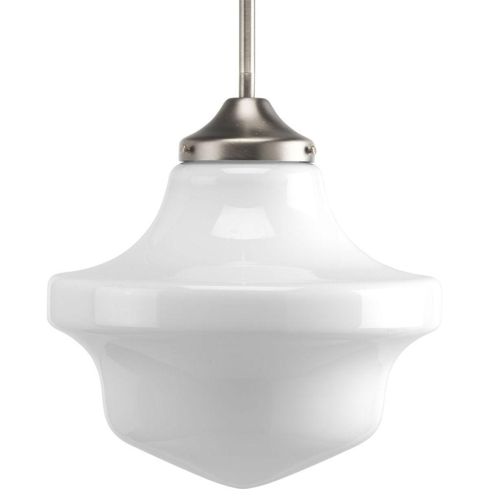 Progress Lighting Schoolhouse Collection 1-Light Brushed Nickel Pendant