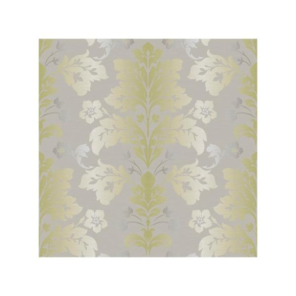 Chesapeake Camila Moss Modern Damask Wallpaper Sample CHR11654SAM