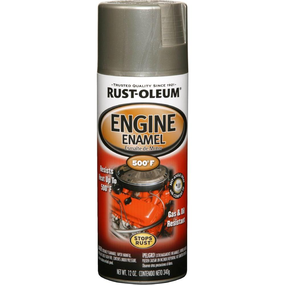 Rust Oleum Automotive 12 Oz Aluminum Engine Enamel Spray Paint 6