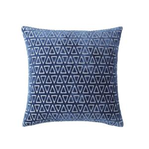 MHF Home 18 in. Emily Blue Diamond Throw Pillow Cover