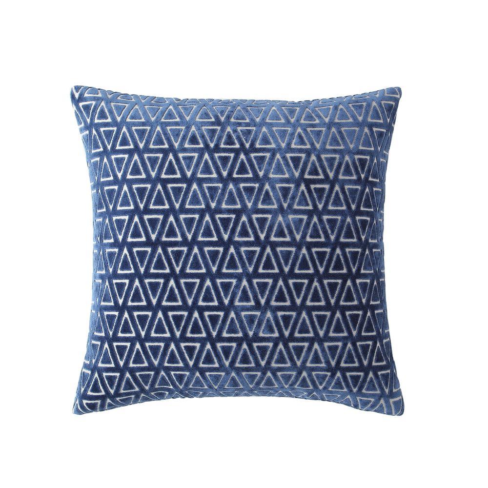 Morgan Home 18 in. Emily Blue Diamond Throw Pillow Cover